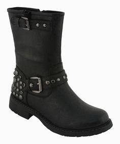 """$49 Eddie Marc & Co. Black Audrey Boot on zulily 15 Dec! 1.25"""" heel, 8"""" shaft."""