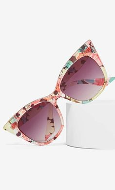 Floral cat eye shades