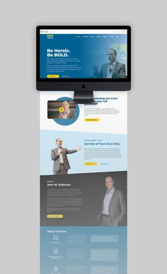 One-page web design was the perfect fit for Boldly.Work with its natural flow and positive user experience. One Page Website, Website Ideas, Coach Website, Web Design Trends, Design Ideas, Meeting Planner, Free Website Templates, Educational Websites, Landing Page Design