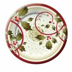 Joyful Poinsettia 8-inch Christmas Paper Desert Plates 8 Per pack by Creative…