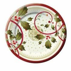 Joyful Poinsettia 8-inch Christmas Paper Desert Plates 8 Per pack by Creative…