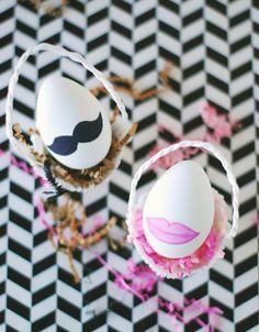 DIY His + Hers Easter Eggs