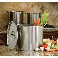 Cooks Pro Stainless Stockpots (Set of 3) . $62.99