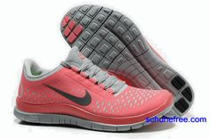 Damen Nike Free 3.0 V4 Schuhe Watermelon Red