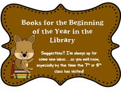 O Reads Books: Books to Read . Sooner than We Think! School Library Lessons, Library Lesson Plans, Elementary School Library, Library Skills, Library Books, Library Posters, Library Inspiration, Library Ideas, Library Organization