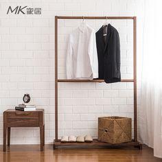 De Japanse zwarte walnoot hout slaapkamer vloer rekken kapstok eenvoudige kleerhanger voor huishoudelijke meubels in textuur van materiaal: houtstructuur technologie: Hout technologiehout bouw technologie: Andereof kan worden aangepast:  van kapstokken op AliExpress.com | Alibaba Groep