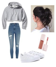 """Untitled #107"" by haileymagana on Polyvore featuring Frame, River Island, adidas Originals and Puma"