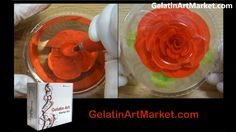 How To Make Sweet Flowers In Fruit-Flavored Jelly. Gelatin Art Desserts