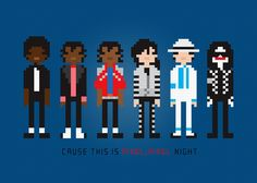 Michael Jackson Cross Stitch PDF Pattern Download. $5.00, via Etsy.