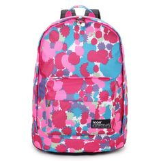 Icon Women Travel Backpack School Backpacks for Girls Cute Bookbags (Pink&Blue)