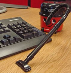 henry the hoover desktop vacuum!