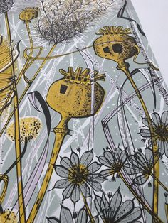 Angie lewin - autumn garden, norfolk - screen print detail f Angie Lewin, Textile Prints, Art Prints, Norfolk, Garden Illustration, Wood Engraving, Engraving Ideas, Autumn Garden, Print Artist