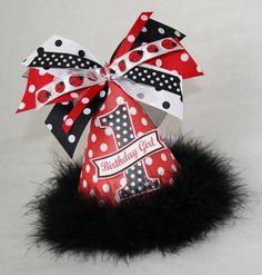 Red & Black Polka Dot Birthday Hat
