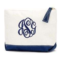 Effigy of Monogrammed Cosmetic Bags