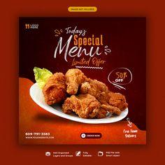 Pizza Menu Design, Food Web Design, Food Graphic Design, Food Poster Design, Banner Social Media, Social Media Poster, Iftar, Breakfast Restaurants, Food Banner