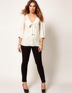 ASOS CURVE Exclusive Blouse With Lace #plussize