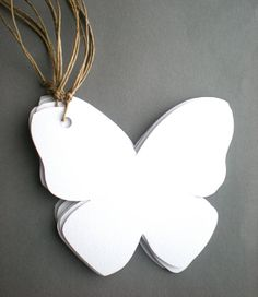 White Butterfly Shaped Wishing Cards to Hang & to by decoraland, €9.99