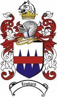 Leonard Coat of Arms / Irish Family Crest  Leonard Family Crest / Leonard Coat of Arms