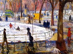 William James Glackens (American; Ashcan School, The Eight, 1870-1938): 29 Washington Square, c.1911. - Google Search