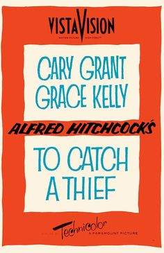 alfred hitchcock movie posters   Alfred Hitchcock - To Catch A Thief Movie Reproduction Poster