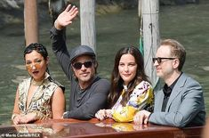 Brad Pitt, couldn't peel his eyes away from Liv Tyler as they attended the photocall for Ad Astra during the Venice Film Festival at Sala Grande in Italy on Thursday. Liv Tyler, Best Actress, Brad Pitt, His Eyes, Taxi, Film Festival, Venice, Actresses, Actors