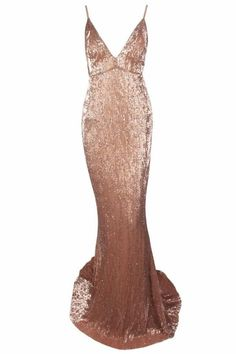 93b535d7cfdf Honey Couture ROSALIE Champagne Gold Low Back Sequin Formal Gown Dress Honey  Couture One Honey Boutique