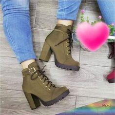 botines de moda 2018 mujer in 2019 High Heel Boots, Shoes Heels Boots, Heeled Boots, Bootie Boots, High Heels, Timberland Heels, Cute Heels, Cute Boots, Sneaker Heels
