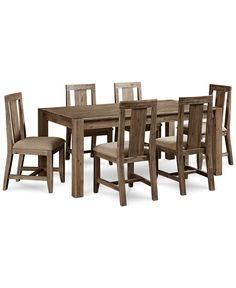 Canyon 7 Piece Dining Set (Table and 6 Side Chairs) - Dining Room Sets - Furniture - Macy's