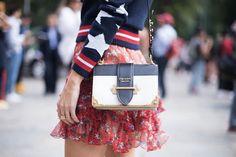 Prada - Cahier smooth and textured-leather shoulder bag High Class Fashion, Fashion Week, Milan Fashion, Prada Purses, Prada Bag, Prada Cahier Bag, Street Style, Luxury Bags, Luxury Handbags