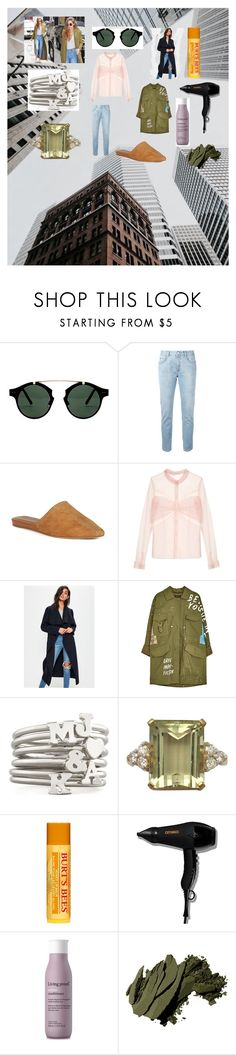 """""""green oversized coat"""" by knmaem on Polyvore featuring Spitfire, STELLA McCARTNEY, Joie, Mary Katrantzou, Missguided, Sarah Chloe, Burt's Bees, amika, Living Proof and Bobbi Brown Cosmetics"""