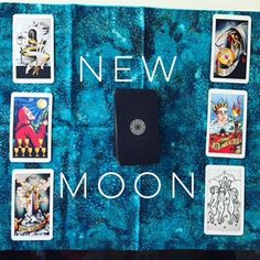 A new moon spread I did for myself, using the Eight of Coins Tattoo Tarot.