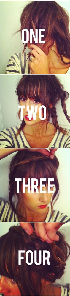 treasuresandtravels - Blog - Tutorial // Braided Crown- doing the braided crown with medium length hair!