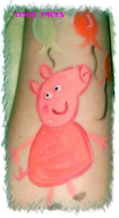 Peppa Pig - Cheek Art Photo:  This Photo was uploaded by tinksfaces-co-uk. Find other Peppa Pig - Cheek Art pictures and photos or upload your own with P...