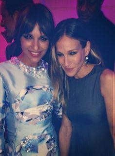 Paula Echevarría y Sarah Jessica Parker juntas en Calzedonia Summer Show