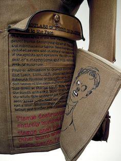 Paddy Hartley: detail of Lumley's uniform, digital embroidery, digital fabric print, felt