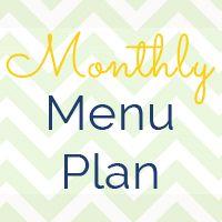 Monthly #Menu #Plan 1/7/14