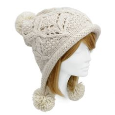 Snowball Knit Hat $18