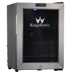 KingsBottle 21 Can Mini Bar Fridge with Glass Door, Stainless Steel - http://www.fivedollarmarket.com/kingsbottle-21-can-mini-bar-fridge-with-glass-door-stainless-steel/