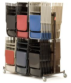 Folding Chair Storage Cart Raymond Products Full Size 2 Tier Truck | Storage cart Folding chairs and Storage  sc 1 st  Pinterest & Folding Chair Storage Cart Raymond Products Full Size 2 Tier Truck ...