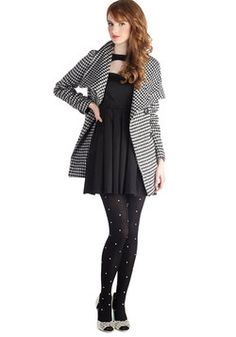 Carefully Chosen Coat in Houndstooth, #ModCloth