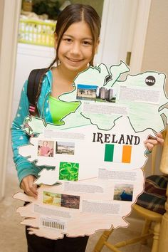 Fun idea for a state, country, or continent study/report. Make a poster in its shape!