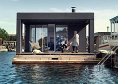 This is a 753 square foot, two-bedroom houseboat built by Laust Nørgaard. It was built for himself and his family and it's located in the Copenhagen harbor. Please enjoy, learn more, and re-s…