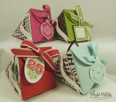 Quick and Fancy Paper Gift Boxes