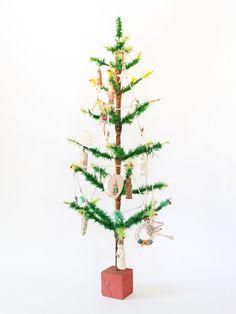 Amazing Vintage German Goose Feather Christmas Tree 3ft (92cm) – Decorative Antiques UK