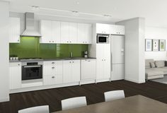 Straight Kitchen In White Matt