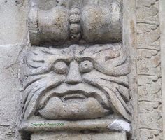 Wiltshire/Bradford on Avon/St Margaret's Street/ 2 of 2 by The Company of the… Wickerman Festival, Man Faces, Bradford On Avon, St Margaret, Creepy Stuff, Angels And Demons, Paganism, Green Man, Castles