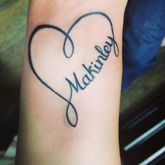 My heart infinity tattoo for my little girl! Love it!