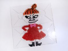 lille my i hama perler Melty Bead Patterns, Bead Crochet Patterns, Perler Patterns, Beading Patterns, Little My Moomin, My Little Pony, Pearl Beads Pattern, Pokemon Perler Beads, Pixel Art Templates