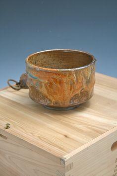 Ceramic Shino Bowl Shino Bowl Pottery Gold Shino by WildfireClay