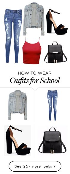 """school or out in the town"" by lowkeybailey04 on Polyvore featuring rag & bone, Tommy Hilfiger and Boohoo"